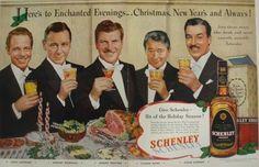 Louis Hayward, Herbert Marshall, Robert Preston, Claude Rains and Cesar Romero for Schenley Whiskey