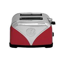 Official VW Red Volkswagen Logo Design Kitchen Toaster - 2 Slice Retro kitchen