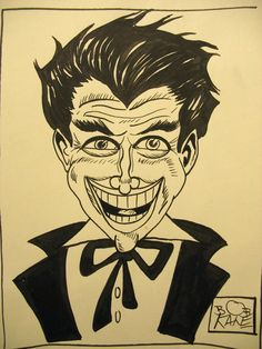 Bob Kane Original vintage found Batman Joker drawing comic art painting signed…