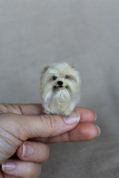 Needle felted miniature pomeranian dog