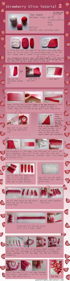 Strawberry Slice Tutorial -2- by QueEnOfNights.deviantart.com on @deviantART