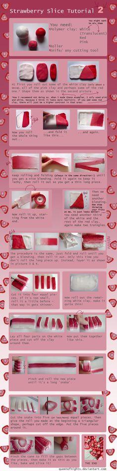strawberry slice cane