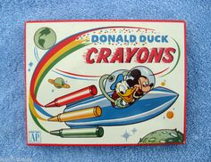 VIntage Donald Duck & Mickey Mouse Crayons Metal Tin Walt Disney Mickey Mouse, Disney Toys, Disney Art, Disney Stuff, Disney Posters, Disney Cartoons, Walt Disney Images, Toy Rocket, Disney Puzzles