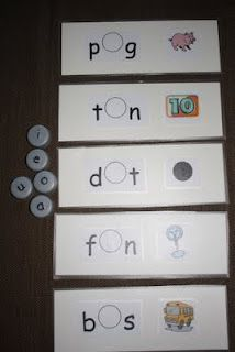 {CVC Word Mats//This would be great to make for articulation kiddos either in small group or during speech centers}