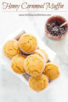 Honey Cornmeal Muffins With Cranberry  Jam Moist & flavorful muffins with cranberry jam are perfect with a cup of coffee or as your breakfast.