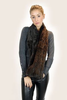 JESSIMARA BROWN KNITTED RABBIT DOUBLE SNOOD Rabbit, Brown, Coat, Sweaters, Fashion, Sewing Coat, Moda, La Mode, Rabbits