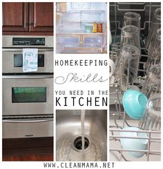 Make your kitchen run smoothly with these essential homekeeping skills. Great cleaning resource!