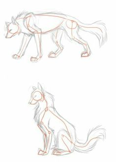 Trendy drawing wolf poses ideas - Drawing Still 2020 Arte Furry, Furry Art, Animal Sketches, Art Drawings Sketches, Wolf Drawings, Fantasy Drawings, Horse Drawings, Pencil Drawings, Drawing Techniques