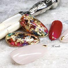 Red Nail Designs, Colorful Nail Designs, New Year's Nails, Get Nails, Stone Nail Art, Witchy Nails, Bright Red Nails, Vintage Nails, Super Cute Nails