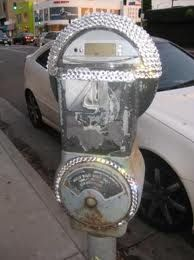 Blinged out parking meter lol.... odd but cute