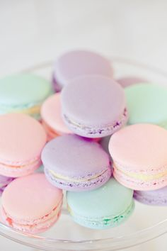 Pastel macaroons: http://www.stylemepretty.com/2014/04/15/pretty-pastel-wedding-details/