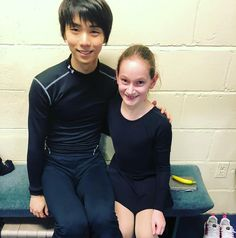 Strength2SkateさんはInstagramを利用しています:「The annual photo, one of our skaters Jemma taking a pic with the one and only Yuzuru Hanyu @tcscc_athletics.」