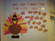 thanksgiving bulletin board    Thanksgiving Turkeys Bulletin Board *Created by Preschool Students ...