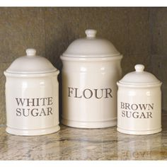 embossed kitchen canister set flour and sugar hold 10 lb each
