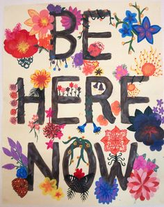 Be here now. Do not run away from your challenges. You have the courage to face them, work through them and eventually be free. #edrecovery