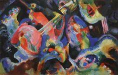 Wassily Kandinsky. Improvisation. Deluge, 1913