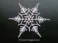 Crochet Snowflake - Double Star