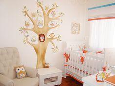 Corujas são as preferidas para decorar o quarto de bebê