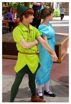 Peter Pan and Wendy. Disney Day, Disney Magic, Disney Parks, Walt Disney World, Peter Pan And Tinkerbell, Peter Pan Disney, Disney World Characters, Disney Movies, Wendy Peter Pan