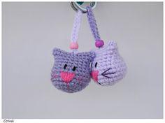 Crochet Cat KeychainHandmade Gift for Cat LoverAnimal by Etilinki