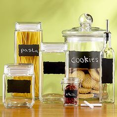 Cute idea for labeling canisters