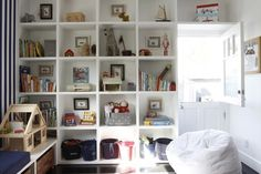 Playroom Bookshelves - eclectic - kids - los angeles - Tess Bethune Interiors