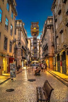 Lisboa | Elevador de Santa Justa cortesia Gonçalo Capitão - Lisbon, Portugal