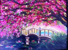 Rainbow Bridge - Knoxville Painting Class - Painting with a Twist - Painting with a Twist