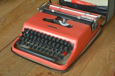 RARE Typewriter  Rare Font  color  Red by WorkingTypewriters