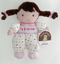 "Carter's Child of Mine "" My First Doll "" - Brunette by Carter's, http://www.amazon.com/dp/B0063ZZ7YU/ref=cm_sw_r_pi_dp_a9Tsqb0G0PYH6"
