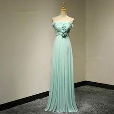 Strapless A-Line Flowers Long Evening Dresses 2016 Summer