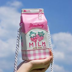 Kawaii Harajuku Milk Box shoulder Bag Kawaii Milk Box Shoulder Bag A gorgeous, high quality, strawberry milk purse with long strap Beautiful hand embroidered detailing! Kawaii Clothes, Kawaii Bags, Kawaii Shop, Kawaii Girl, Kawaii Stuff, Kawaii Things, Kawaii Anime, Harajuku Fashion, Kawaii Fashion
