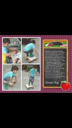 #reyhanhavingfun with his skateboard he made at school with his amazing teacher. #littleinventor #skateboard #bestteacherever #pumpkinpatchkids #kindergarten