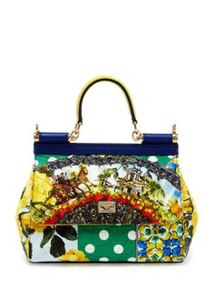 Mini Foulard Sicily Bag from Dolce & Gabbana Accessories on Gilt
