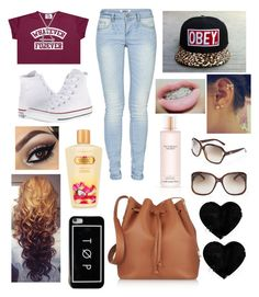 """WHATEVER FOREVER"" by jccook-jc ❤ liked on Polyvore featuring ONLY, Studio Silver, Converse, Sophie Hulme, Victoria's Secret, OBEY Clothing and Gucci"