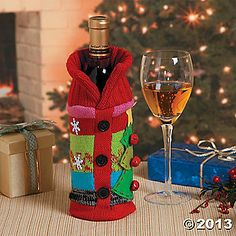 Ugly Christmas Sweater Bottle Bag