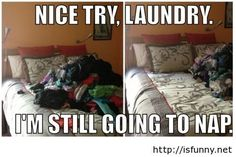 Laundry humor in my kids' bedroom. Hmm, wonder who this reminds me of?
