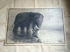 Original Charcoal of an Old Political Cartoon by oldfangledcool