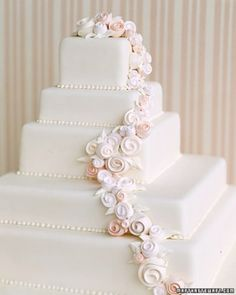 """See the """"Ribbon Rose Wedding Cake"""" in our  gallery"""