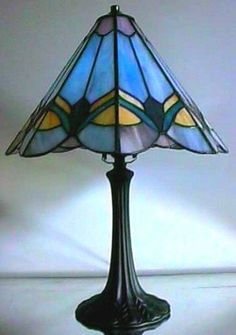 Small  Prairie Stained Glass Lamp Shade Patterns and stained glass patterns billiard lamp