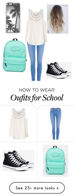 """School"" by arby-v-ashton on Polyvore featuring Paige Denim, RVCA, Converse, Zero Gravity and Vans"