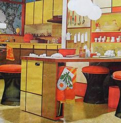 Visit my blog http://cdiannezweig.blogspot.com/ and my site at http://iantiqueonline.ning.com/http://iantiqueonline.ning.com/     1960s Mod Pop Graphic Kitchen Vintage Interior Design Photo by Christian Montone, via Flickr