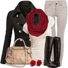 Fall Outfit With Trench coat.Scarf and Cream Handbag