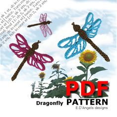 Crochet Patterns DRAGONFLY by LassCrochet on Etsy, $2.99