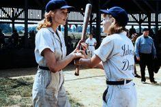 Dottie Hinson (Geena Davis), Kit Keller (Lori Petty) ~ A League of Their Own (1992) ~ Movie Stills ~ #moviestills #leagueoftheirown #90smovies
