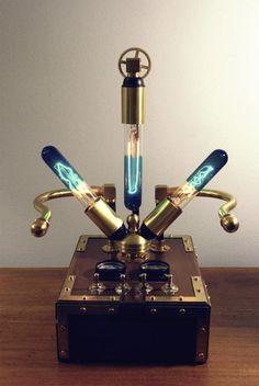 Steampunk Lamp by Pierre Jean Tardiveau