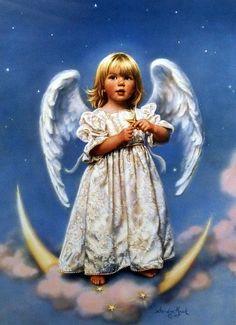 "Little Blond Angel Image Size 16"" x 22"""