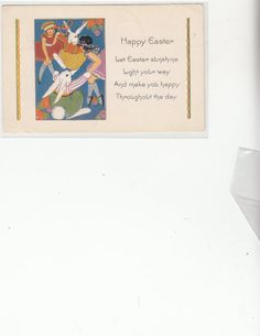 Happy Easter Art Deco Dressed Rabbits by Museumofantiquepaper