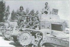 Carristi italiani con i primi M13/40 assegnati al fronte africano