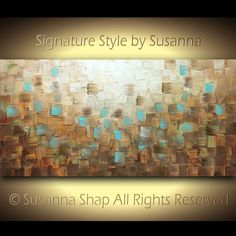 Large Abstract Art Original Canvas Painting Textured Earthy Brown Blue Rust Wall Art Home Decor, Modern Palette Knife Oil Painting Susanna